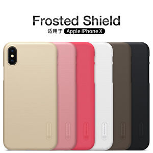 Nillkin-Frosted-Shield-Matte-Hard-Rigide-Arriere-Telephone-Etui-Housse-Pour-Apple-iPhone-X