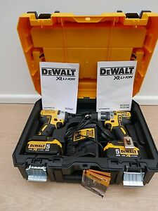 DEWALT DCK266P2T XR 18V DCD796 COMBI DRILL + DCF887 IMPACT DRIVER 5 AH IN TSTAK
