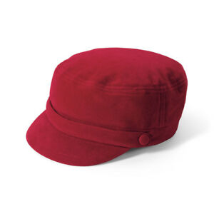 a0055b6517dd1 SAN DIEGO HAT CO. Sueded Cord Greek Fisherman Cap RED One Size New ...