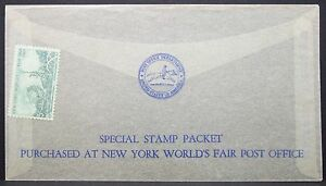 US-Glass-Letter-Ny-World-039-s-Fair-1964-5c-Special-Stamp-Packet-USA-Letter-Y-403