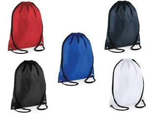 Image Is Loading Plain Blue Red Navy Black White Drawstring Bag