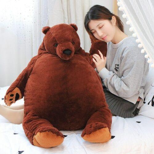 100cm giant DJUNGELSKOG bear toy Brown Teddy Bear Stuffed Animal Toys LovelyTedd