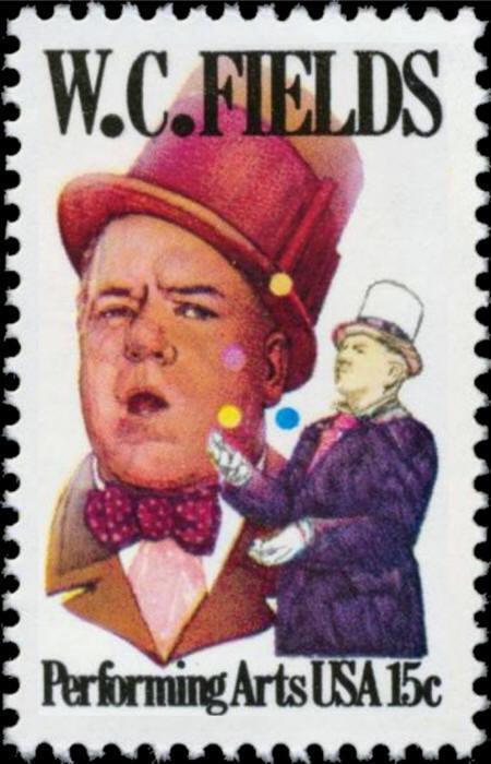1980 15c W.C. Fields, Comedian, Actor, Juggler, Writer