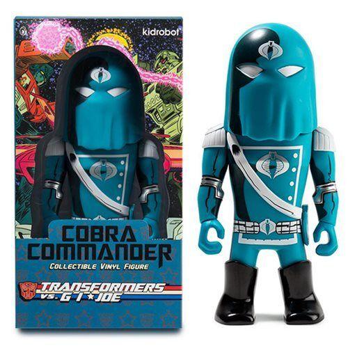 Kidrobot   Transformers Vs G.I. Joe   bluee Cobra Commander   Art Figure