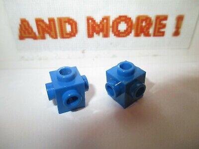 Lego 2x Technic Plaque plate 2x8 8x2 holed trou 3738 Bleu//Blue//Blau