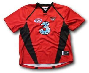 Mens Essendon Bombers Players Pre-Game Warm Up Football Jumper Guernsey Size 4XL