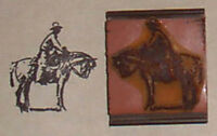 Cowboy On A Horse Rubber Stamp By Amazing Arts
