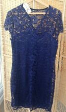 """CHENG XIN Popular Lace Dress Midnight Navy Blue Size 4XL BNWT 38"""" Unstretched"""