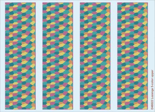 Eduard Accessories D48022-1:48 Lozenge 5-Color Upper Decals Neu