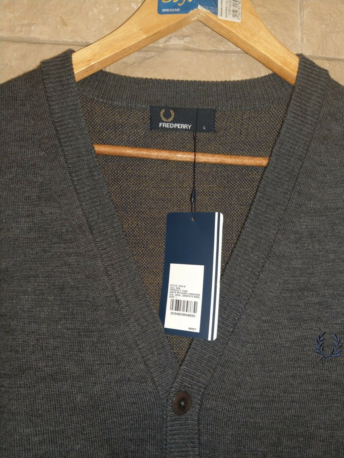 Ben Sherman ® SCURO-XL Merino Cardigan/NAVY SCURO-XL ® 5e0167