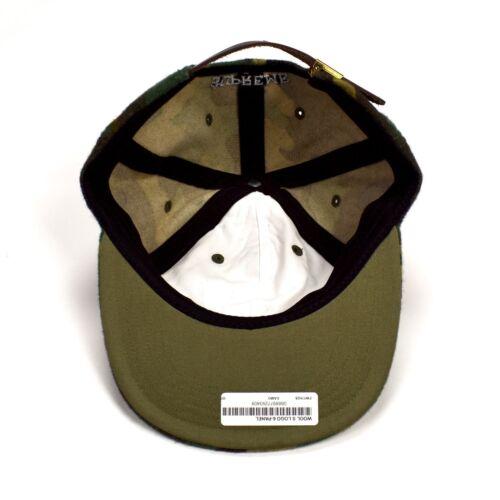 NWT Supreme NY Mens Camo Print Wool Classic Big S Logo Hat Cap FW17 DS AUTHENTIC