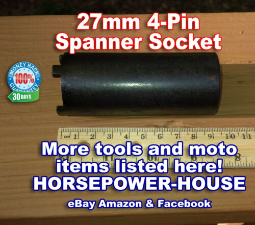 27mm ID 4 PIN SPECIAL SOCKET SPANNER to remove SLOTTED LOCK NUT MANY APPLICATION