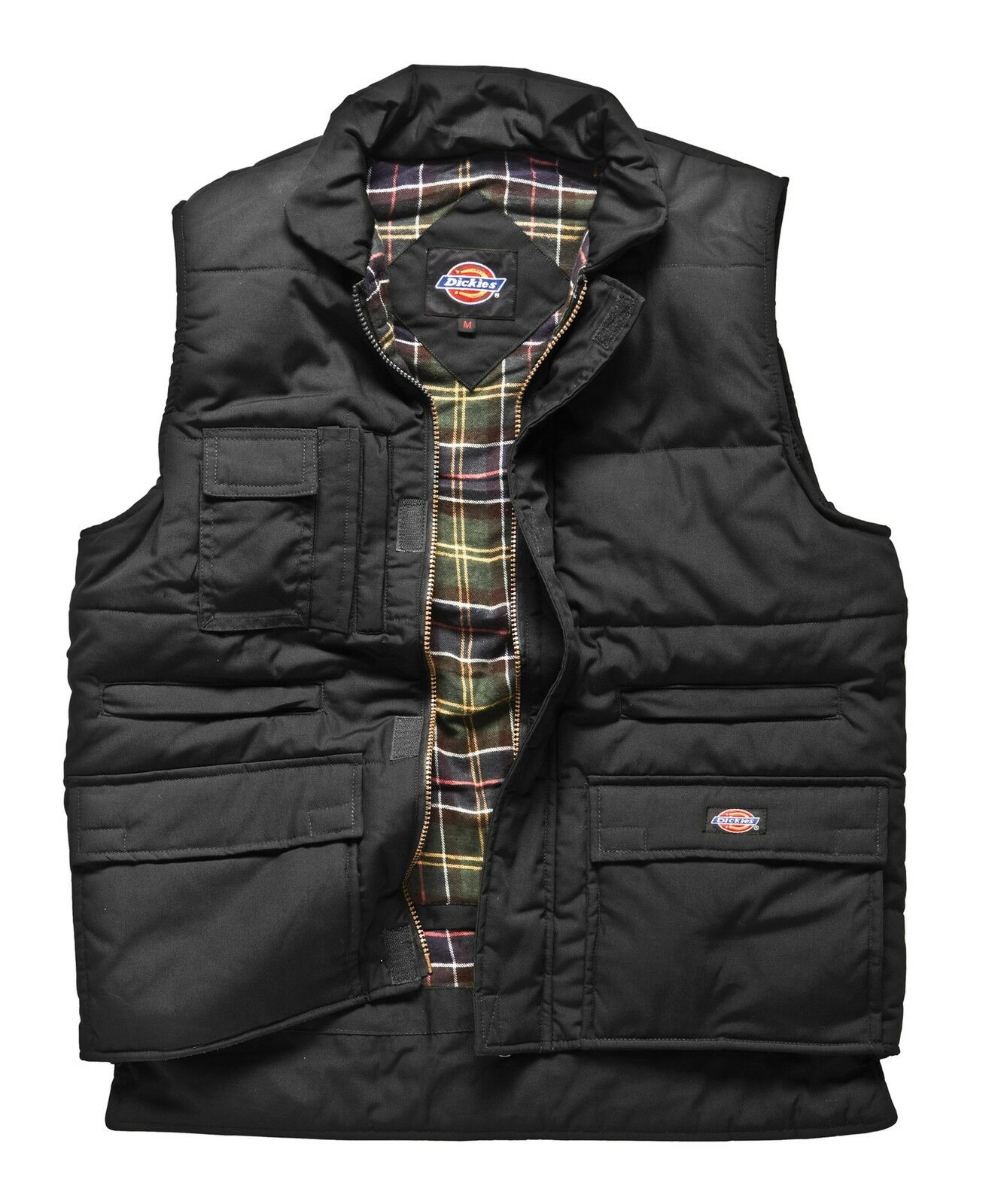 Dickies Combat Bodywarmer BW11025 schwarz Weste Mulitpocket Vest  gefüttert