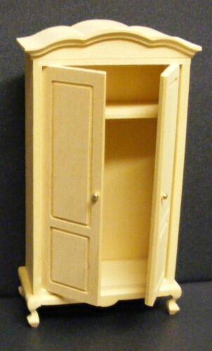 Échelle 1:12 finition naturelle en bois armoire tumdee maison de poupées miniature 016