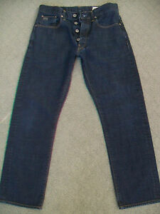 MENS-G-STAR-039-3301-TAPERED-039-JEANS-WITH-BUTTON-FLY-SIZE-31