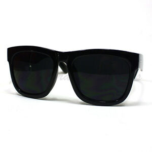cc788ec3835 Image is loading Oversized-Square-Sunglasses-Thick-Horn-Rim-Frame-Super-