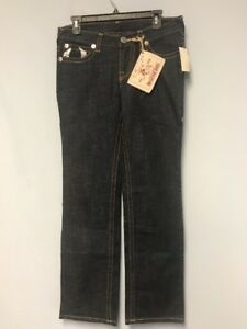 TRUE-RELIGION-Women-World-Tour-Painted-Pockets-Blue-Jeans-Size-31-NWT-319