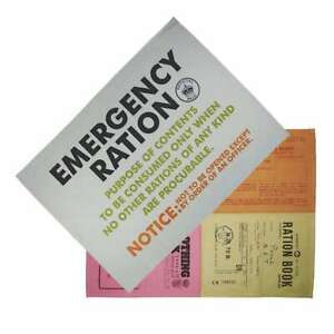 RATION-BOOK-EMERGENCY-MONTAGE-SET-OF-2-OFFICIAL-KITCHEN-TEA-TOWEL-NEW-WITH-TAGS