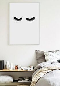Details About Eye Lashes Wall Art Affiche Scandinave Modern Canvas Painting Wall Decor