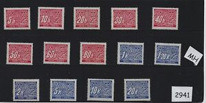 Mint-stamp-set-2941-Postage-due-Full-Third-Reich-series-1940s-MH-stamps