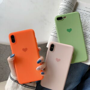 Details About Shockproof Heart Fashion Candy Color Soft Rubber Back Phone Case Cover Skin
