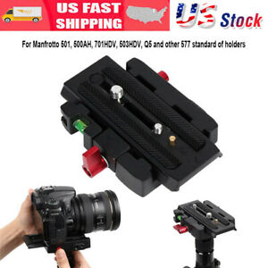 New-P200-Quick-Release-QR-Clamp-Base-Plate-for-Manfrotto-500-AH-701-503-HDV-577
