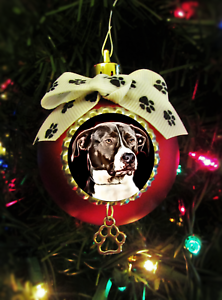 Pitbull Christmas Ornament.Details About Blue Nose Pitbull Painted Dog Christmas Ball Ornament Breed Specific Pets Lovers