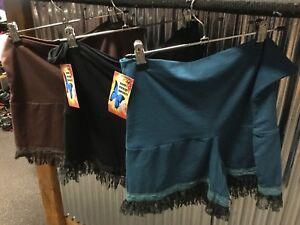 New-Ladies-Unique-Pixie-Shorts-Boho-Hippie-With-Lace-Hem-Size-10-14