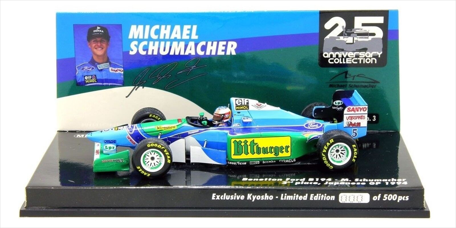 Mminichamps 1 43 Benetton Ford B194 M. Schumacher Japan GP spécification 1994 Ltd
