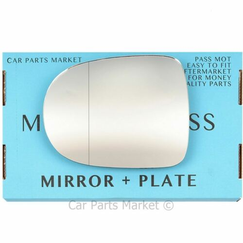 For Renault Twingo 11-14 Left passenger side Aspheric wing mirror glass w// plate
