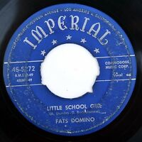 HEAR Fats Domino 45 Little School Girl/You Done Me IMPERIAL 5272 R&B rocker