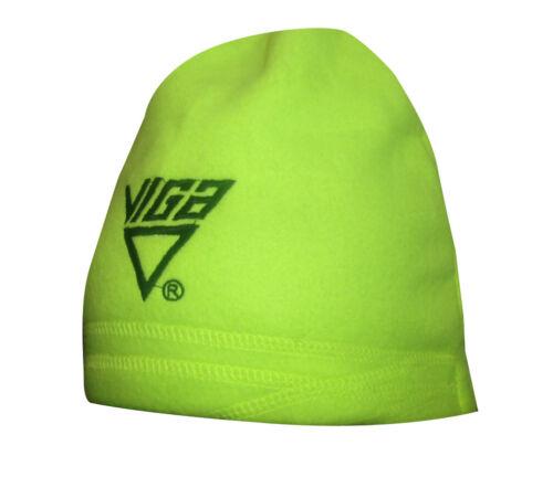 Viga Fleece Beanie thermique doublé chaud hiver coiffure Veilleuse de sécurité jaune