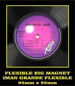 Jean-Michel-Jarre-Oxygene-LABEL-FLEXIBLE-BIG-MAGNET-IMAN-GRANDE