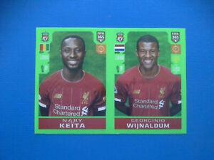 Figurine-Panini-Fifa-365-2019-20-2020-n-34-Keita-Wijnaldum-Liverpool