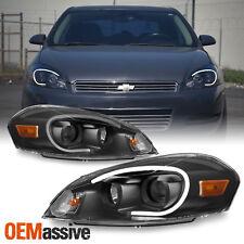 Fits Black 2006 2013 Chevy Impala Light Bar Projector Front Lamps Headlights Fits 2006 Impala