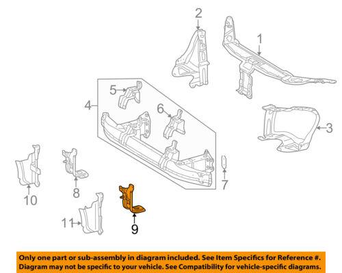 Mercedes MERCEDES-BENZ OEM Radiator Core Support-Mount Bracket Left 2206201931
