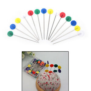50pc-Patchwork-Pins-Flower-Button-Head-Pins-DIY-Quilting-Tool-Sewing-AccessorP0