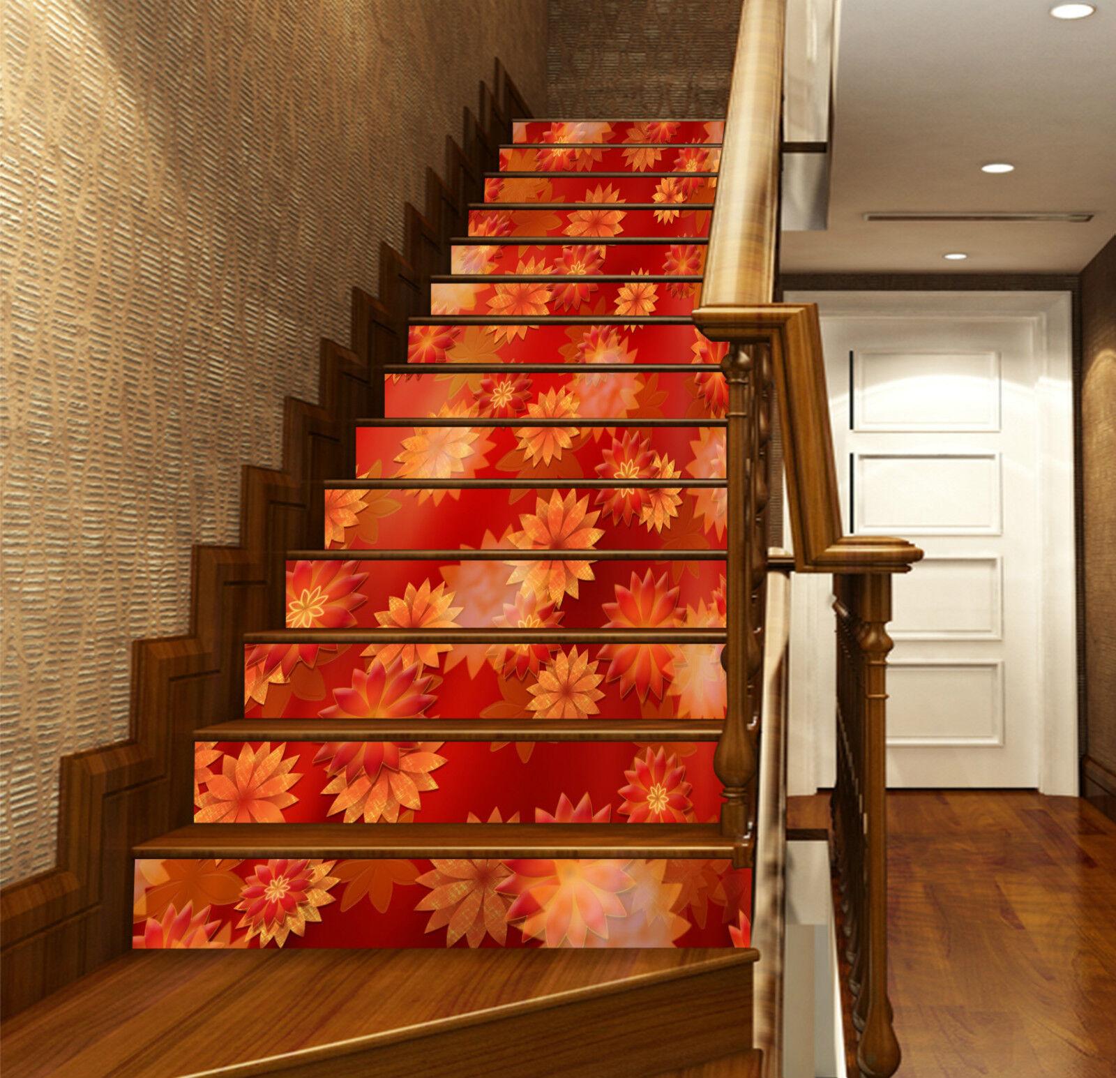 3D rede blueme 863 Stair Risers Dekoration Fototapete Vinyl Aufkleber Tapete DE