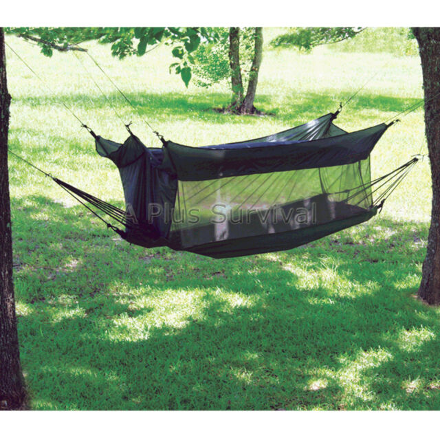 Lot of 2 - Texsport Wilderness Hammock Tent Combo Shelter for Camping Survival