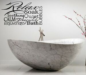 Image Is Loading RELAX SPA BATHROOM RULES LETTERING BATH WORDS VINYL