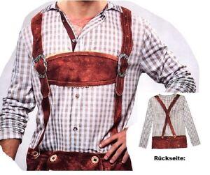 Lederhosenshirt-Lederhose-Shirt-Bayern-Kostuem-XL-Fasching-Karneval-Verkleidet