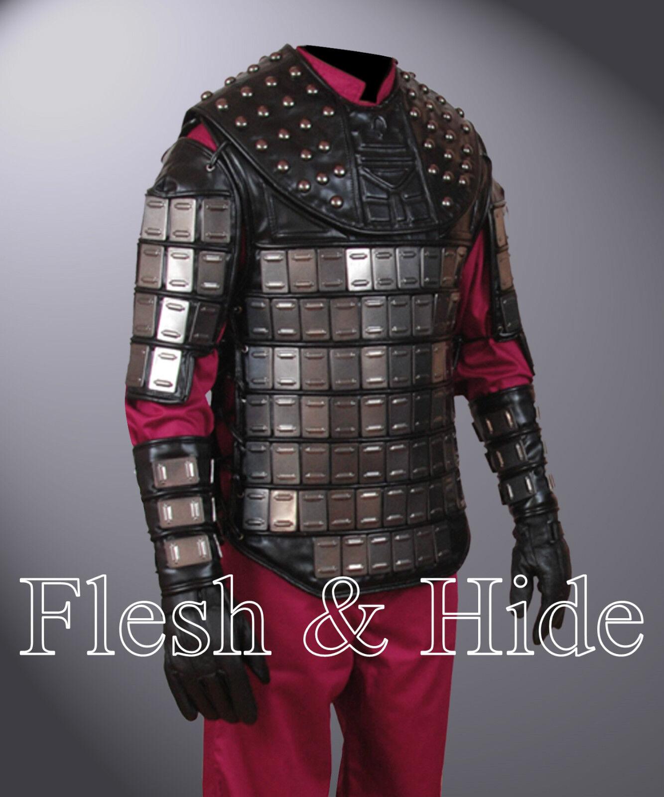 Faux Leder Planet of the Apes General Ursus Vest, Uniform, Wrist Cuffs