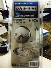 Everbilt Trip Lever 1-1//2 in White Poly Pipe Bath Waste and Overflow Drain