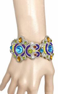 1-1-6cm-con-Multicolor-Cristales-Brazalete-Llamativo-Informal-Chic-Moda-Joyeria