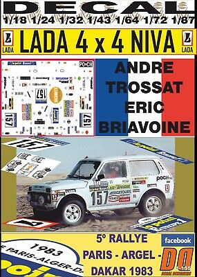 DECAL LADA NIVA 4x4 MARTINE DE CORTANZE PARIS DAKAR 1983 04