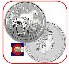 2014 Lunar Horse 2 oz Silver Australian Coin, Series II, Australia