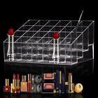 24 Compartiments Acrylique Boite Rouge à Lèvres Rangement Présentoir Maquillage