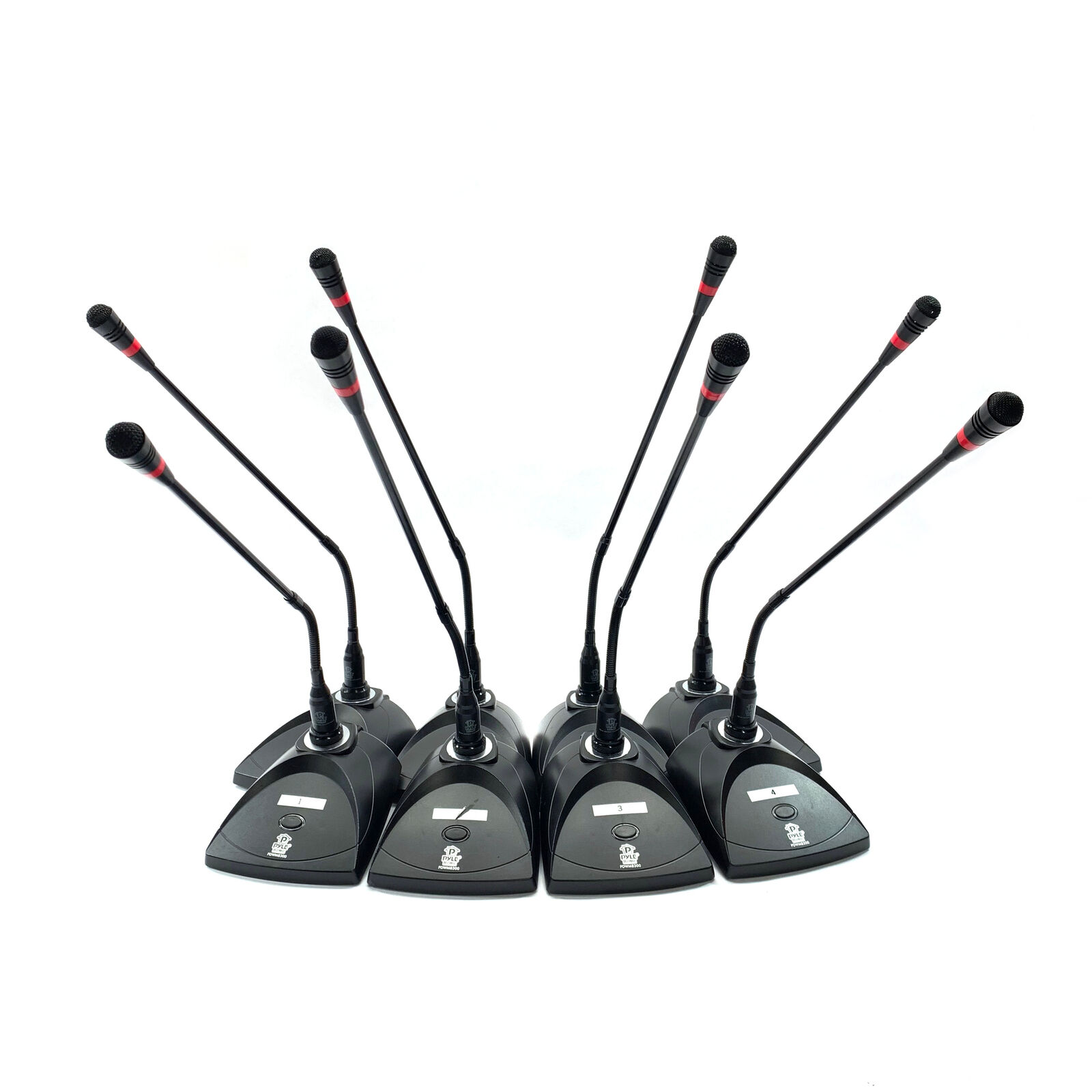 Pyle PDWM8300 8-Channel VHF Wireless Microphone System with 8 Microphones