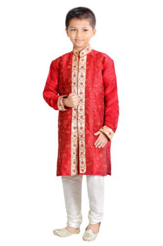 1 To 12 Years-Worldwide Postage 2 Pcs New Boys Indian Kurta Sherwani Suit
