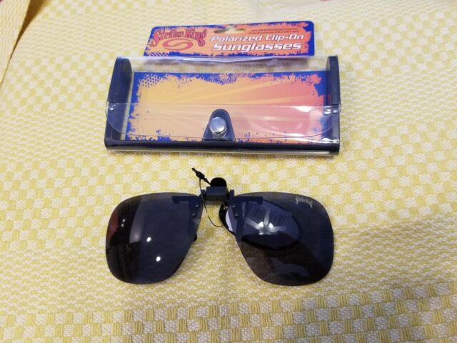 Strike King Polarized Clip-On Sunglasses w/case New